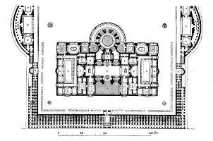 Plan of the Baths of Caracalla