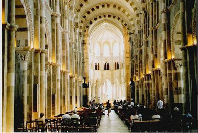 Interior of Vézelay