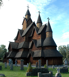 Stave Church (rear view)