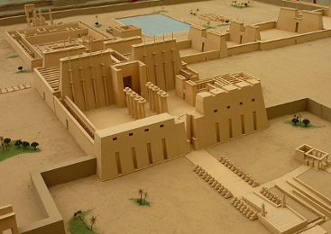 Model of an Egyptian Temple