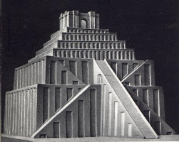 Model Of A Ziggurat Note The Temple At Top