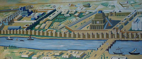 Map of Babylon (Neo-Babylonian period)