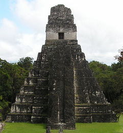 Pyramid at Tikal (with temple)