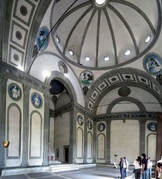 central plan Church by Brunelleschi (interior)