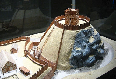 Model of a Motte-and-bailey Castle