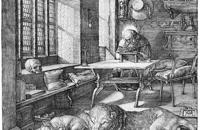 St Jerome in his Study (engraving), Dürer