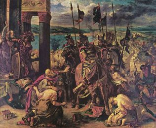 <em>Entry of the Crusaders into Constantinople</em>, Delacroix