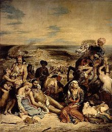 <em>Massacre at Chios</em>, Delacroix