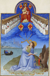 Christ and 24 Elders with John (Très Riches Heures)