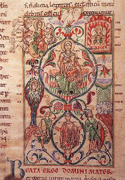 Illumination from a French Romanesque Manuscript