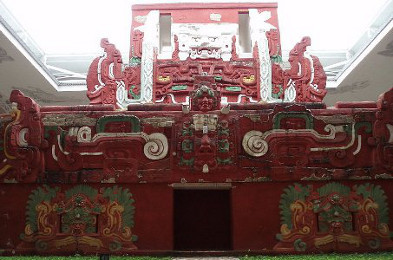 Replica of a Mayan Temple