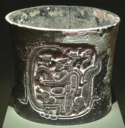 Maya Vessel with Relief Decoration