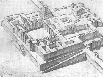 Reconstruction of a Mesopotamian Palace Complex