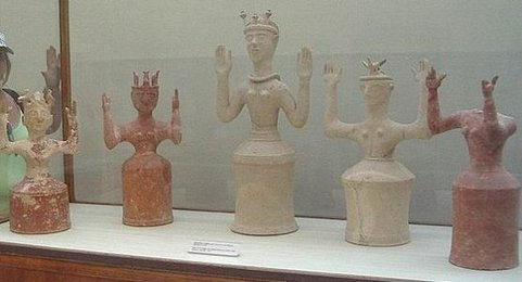Minoan Sculpted Clay Vessels