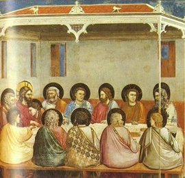 Last Supper (Life of Christ mural series, Arena Chapel, Padua), Giotto