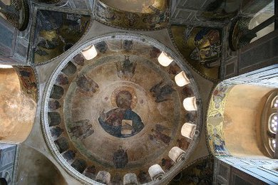Hierarchical Composition (mosaics and murals) in a Byzantine Church