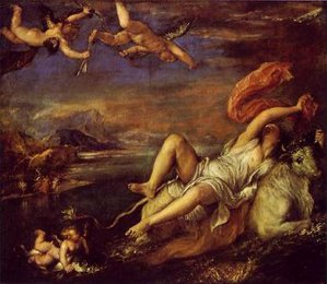 Rape of Europa, Titian