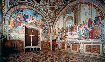 Room with Murals by Raphael (including School of Athens)