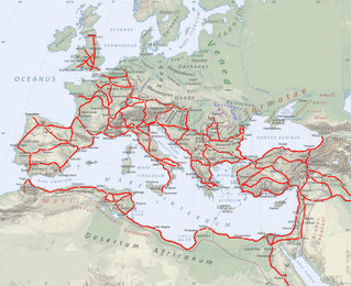 Map of Ancient Roman Highways
