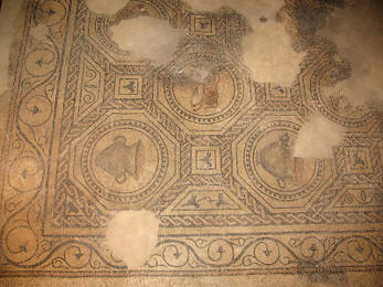 Roman Mosaic with Knotwork