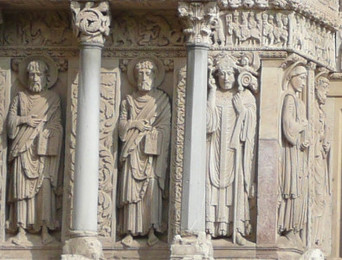 Romanesque Figures (church facade)