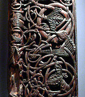 Norse Woodwork (from a door frame)