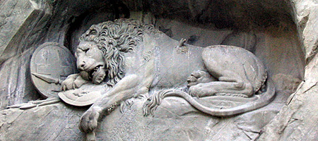 <em>Lion of Lucerne</em>, Thorvaldsen