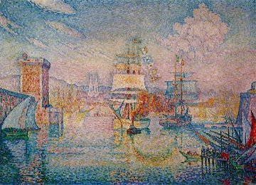 <em>Entrance to the Port of Marseilles</em>, Signac