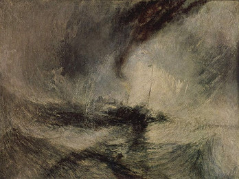<em>Snow Storm - Steam-Boat off a Harbour's Mouth</em>, Turner