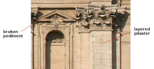 Example of Broken Pediment and Layered Pilaster (Saint Peter's Basilica)