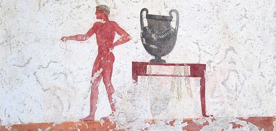 Mural in the Tomb of the Diver