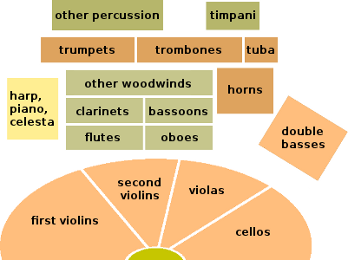 Typical Layout of a Modern Orchestra
