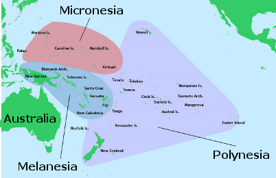 The Four Major Culture Areas of Oceania