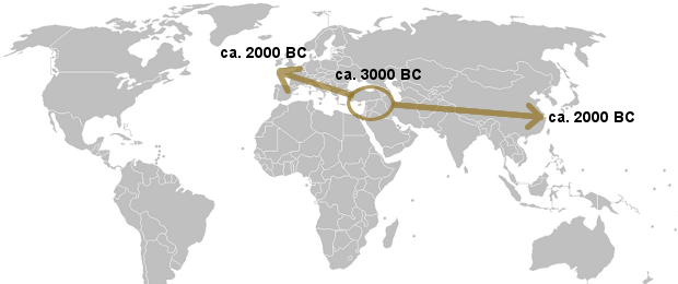 Spread of the Bronze Age