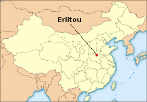 Location of Erlitou