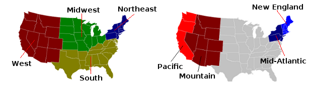 Regions of the Continental US