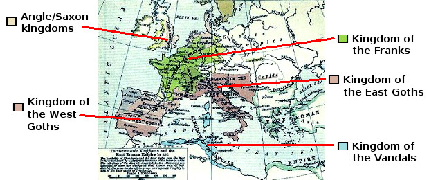 The Germanic States that Succeeded the Western Roman Empire