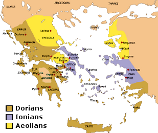 Settlement of the Greek Tribes