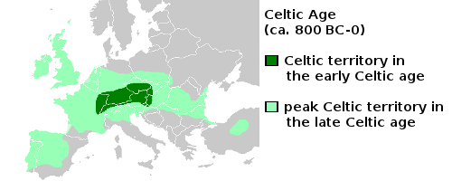 Celtic Territory during the 'Celtic Age'