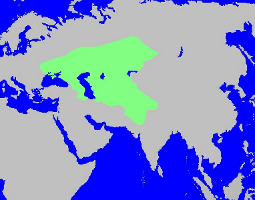 Peak Territory of the Iranian Steppe Empires