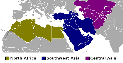 Regions of the Middle East