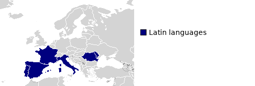 Modern Distribution of the Italic Language Family
