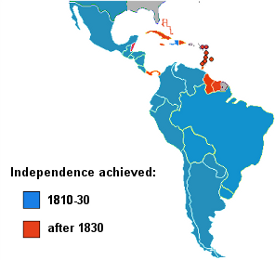 Independence of Latin American Nations