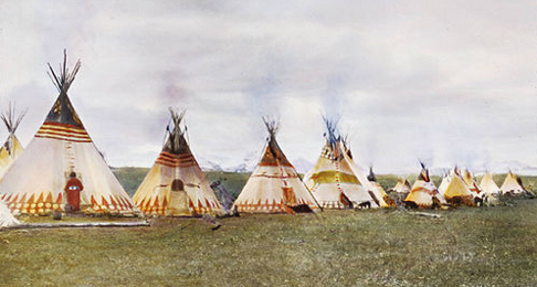 Plains Buildings (Siksika Teepees)