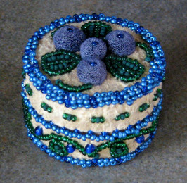 Subarctic Art (Athabaskan beaded hide box)