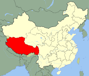 Location of Tibet